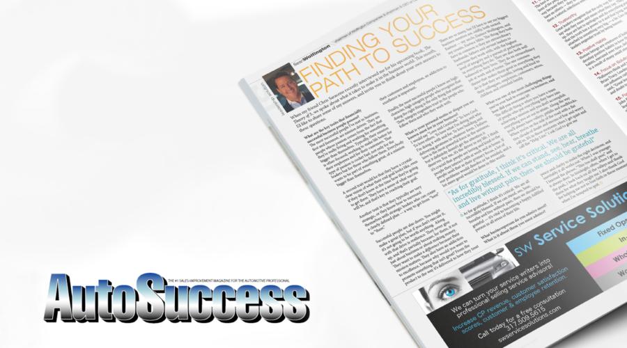 """Finding Your Path To Success"" – Sean Wolfington, Auto Success Magazine, April 2018"